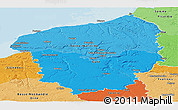Political Shades Panoramic Map of Haute-Normandie