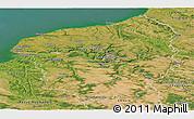 Satellite Panoramic Map of Haute-Normandie