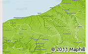 Physical 3D Map of Dieppe