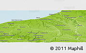 Physical Panoramic Map of Dieppe