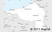 Silver Style Simple Map of Dieppe