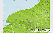 Physical Map of Seine-Maritime