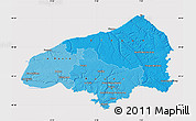 Political Shades Map of Seine-Maritime, cropped outside