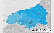 Political Shades Map of Seine-Maritime, lighten, desaturated