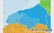 Political Shades Map of Seine-Maritime