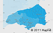 Political Shades Map of Seine-Maritime, single color outside