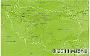 Physical 3D Map of Île-de-France