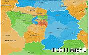 Political 3D Map of Île-de-France