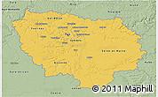 Savanna Style 3D Map of Île-de-France