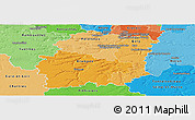 Political Shades Panoramic Map of Essonne