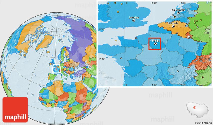 political location map of hauts de seine. Black Bedroom Furniture Sets. Home Design Ideas