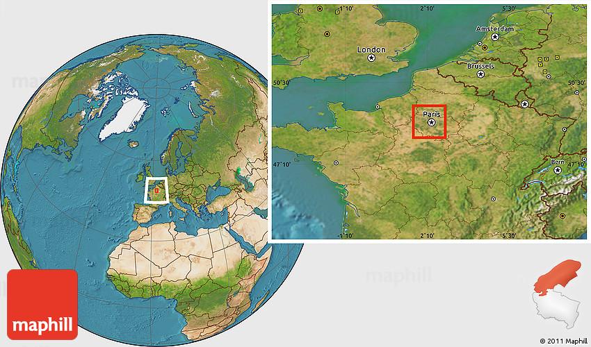satellite location map of nanterre. Black Bedroom Furniture Sets. Home Design Ideas