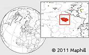 Blank Location Map of Île-de-France