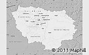 Gray Map of Île-de-France