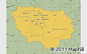 Savanna Style Map of Île-de-France