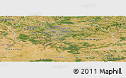 Satellite Panoramic Map of Île-de-France
