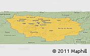Savanna Style Panoramic Map of Île-de-France