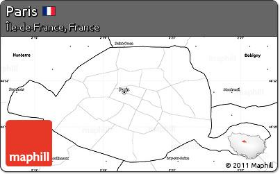 blank simple map of paris blank simple map of paris
