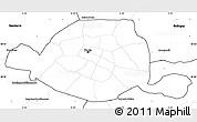 blank simple map of paris