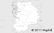 Silver Style Simple Map of Seine-et-Marne