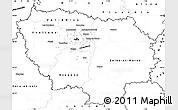 Blank Simple Map of Île-de-France