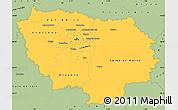 Savanna Style Simple Map of Île-de-France