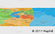 Political Shades Panoramic Map of Val-de-Marne