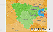Political Shades 3D Map of Yvelines