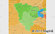 Political Shades Map of Yvelines