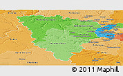 Political Shades Panoramic Map of Yvelines