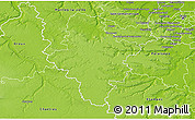Physical 3D Map of Rambouillet
