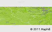 Physical Panoramic Map of Rambouillet