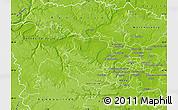 Physical Map of Saint-Germain-en-Laye