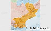 Political Shades 3D Map of Languedoc-Roussillon, lighten