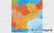 Political Shades 3D Map of Languedoc-Roussillon