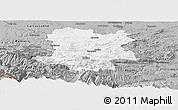 Gray Panoramic Map of Limoux