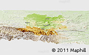 Physical Panoramic Map of Limoux, lighten