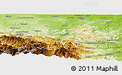 Physical Panoramic Map of Limoux
