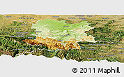 Physical Panoramic Map of Limoux, satellite outside