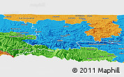 Political Panoramic Map of Limoux