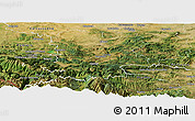 Satellite Panoramic Map of Limoux