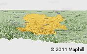 Savanna Style Panoramic Map of Limoux