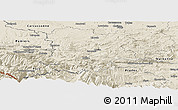 Shaded Relief Panoramic Map of Limoux
