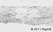 Silver Style Panoramic Map of Limoux