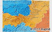 Political Shades 3D Map of Gard