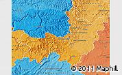 Political Shades Map of Gard