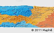 Political Shades Panoramic Map of Gard