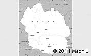 Gray Simple Map of Lozere