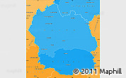Political Shades Simple Map of Lozere