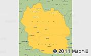 Savanna Style Simple Map of Lozere